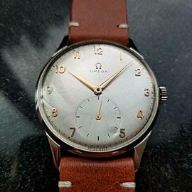 OMEGA Men's Omega OT2505 Hand-Wind 37mm Dress Watch, c,1952 Swiss Vintage LV970