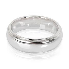 Tiffany & Co. Classic Milgrain Wedding Band in Platinum (6 mm)