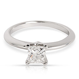 Tiffany & Co. Princess Cut Diamond Engagement Ring in Platinum (0.53 ct H VVS1)