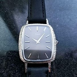 PIAGET Men's Solid 18k White Gold cal.9P2 Hand-Wind, c.1970s Swiss Luxury LV852