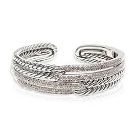David Yurman Labyrinth Diamond Cuff in Sterling Silver 1.77 CTW
