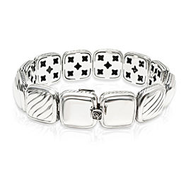 David Yurman Chiclet Diamond Bracelet in Sterling Silver 1.75 CTW