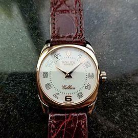 ROLEX Ladies 18K Rose & White Gold Cellini Danaos 6629, c.2001 Luxury LV706RED