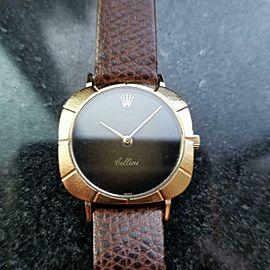 ROLEX 18K Gold Ladies Cellini 3878 Manual Hand Wind, c.1970 Swiss Luxury LV701