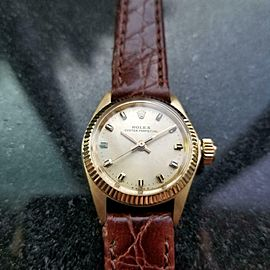 ROLEX 14K Gold Ladies Oyster Perpetual ref.6619 Automatic, c.1965 Swiss MS141BRN