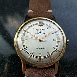 LONGINES Men's Gold-Capped Conquest 9026 Automatic, c.1970s Swiss Vintage LV563