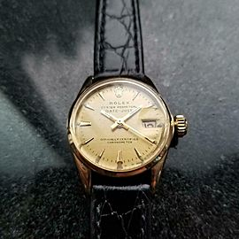 ROLEX Ladies 18K Gold Oyster Datejust ref.6516 Automatic, c.1963 Swiss MS184BLK
