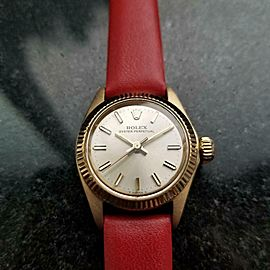 Ladies Rolex 18K Gold Oyster Perpetual ref.6619 Automatic w/Box, c.1968 MS142RED