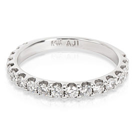 Diamond Wedding Band in 14K White Gold 0.45 CTW