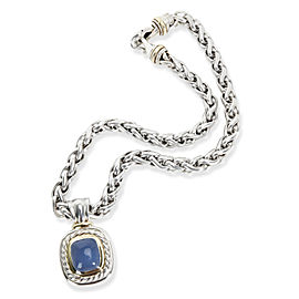David Yurman Albion Chalcedony Necklace in Sterling Silver