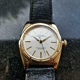 Men's Rolex Oyster Perpetual 18K Gold Bubble Back Automatic ref.3372 1940s LV932