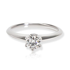 Tiffany & Co. Solitaire Diamond Engagement Ring in Platinum G-H VVS1VVS2 0.39ct