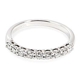 Platinum Tiffany & Co. Embrace Band Ring (9 Diamonds 0.27cts)