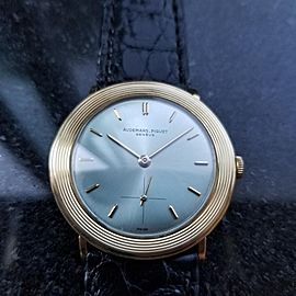 Men's Audemars Piguet 18k Solid Gold Geneve Dress Watch, c.1970s Swiss Lux NS40
