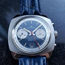 Men's Wittnauer Professional Chrono-Date Hand-Wind, c.1970s Swiss Vintage MX92