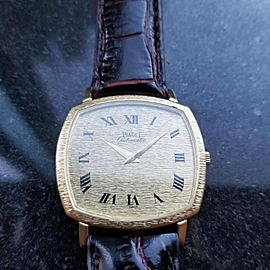Men's Piaget 18k Solid Gold ref.13406 Automatic Dress Watch c.1980s Swiss MS209