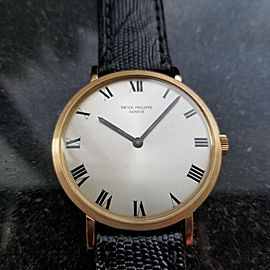 Men's Patek Philippe 18K Gold Calatrava ref.3538 Manual, c.1970s Swiss LV813BLK