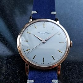 Men's IWC 18k Rose Gold Schaffhausen Manual Wind, c.1950s Swiss Vitnage LV338BLU