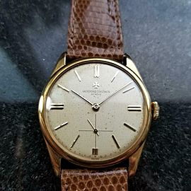 Men's Vacheron & Constantin 18K Gold Dress Watch 4066 Hand-Wind c.1950s MS233TAN