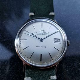Men's IWC 18K White Gold Date Automatic cal.8541, c.1950s Swiss Vintage LV956GRN