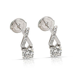 DeBeers Promise Diamond Stud Earring in 18K White Gold 0.68 CTW