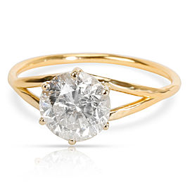 Solitaire Diamond Engagement Ring in 18K Yellow Gold H-I4 1.30 CTW