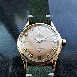 Men's Omega 14k Gold Constellation Automatic Chronometer c.1954 Vintage LV666GRN