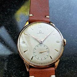 OMEGA Men's 18K Rose Gold cal.265 Dress Watch 37mm c.1947 Swiss Vintage MS177