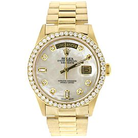Rolex President Day-Date 18K Gold 36MM with custom Diamond Dial and Bezel