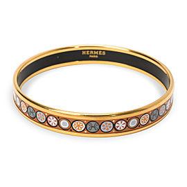 Hermes Vintage Cloisonne Enamel Bangle Bracelet
