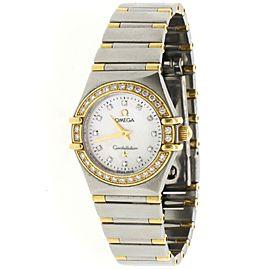 Omega Constellation 23mm 2-Tone Factory Diamond Bezel Watch 1367.75.00