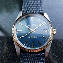 Men's Tudor 14K Gold & SS Prince Oysterdate ref.74033 Automatic c.1990s LV714BLU