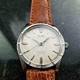 Men's Rare Rolex Oyster Perpetual 6569 Automatic, c.1958 Vintage Swiss LV761TAN