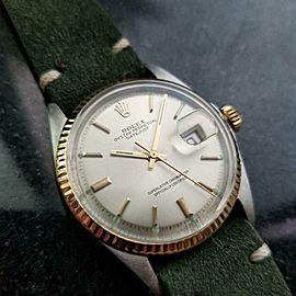 Men's Rolex 18k Gold & ss Oyster Datejust 1601 Automatic, c.1970s Vintage LV927