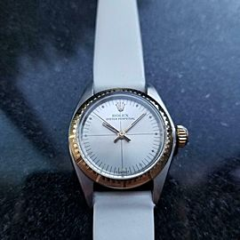Ladies Rolex 18k Gold & ss Oyster Perpetual 6724 Automatic c.1976 Swiss MS159WHT