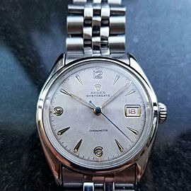 Men's Rolex Oysterdate ref.6094 Manual-Wind c.1952 Red Date Swiss Vintage LV787