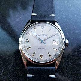 Men's Rolex Oysterdate ref.6094 Manual Wind w/Date c.1952 Swiss Vintage LV787BLK