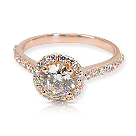 Brilliant Earth Halo Diamond Engagement Ring in 14K Rose Gold J VS1 1.19 CTW