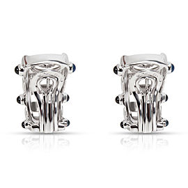Patek Philippe Diamond & Sapphire Earrings in 18K White Gold
