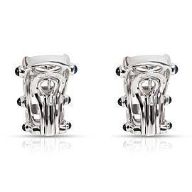 Patek Philippe Diamond & Sapphire Earrings in 18K White Gold