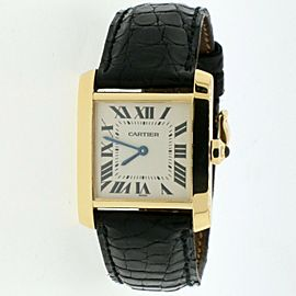 Cartier Tank Francaise 18K Yellow Gold Roman Dial 25MM Ladies Watch 1821