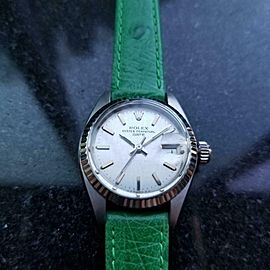Ladies Rolex 18k & ss Oyster Date 6917 automatic, c.1978 Swiss Luxury MS167GRN