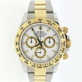 Rolex Cosmograph Daytona 18K Yellow Gold/Steel 40mm Watch 116503 Box Papers
