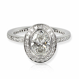 Ritani Halo Diamond Engagement Ring in Platinum GIA Certified G VS2 1.4 CTW