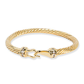 David Yurman Cable Collectibles Buckle Diamond Bracelet in 18K Yellow Gold 0.12