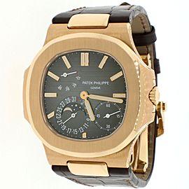 Patek Philippe Nautilus 18K Rose Gold 40MM Mens Watch 5712R-001 Box & Papers