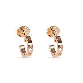 Cartier Love Huggie Earrings in 18K Rose Gold