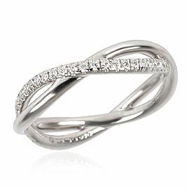 David Yurman Lanai Collection Diamond Wedding Band in Platinum 0.19 CTW