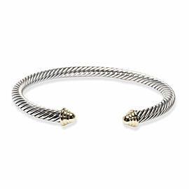 David Yurman Cable Bracelet in 14K Yellow Gold/Sterling Silver 5mm