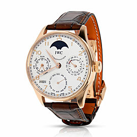 IWC Portuguese Perpetual Calendar Moonphase IW502306 Men's Watch in 18kt Rose Go
